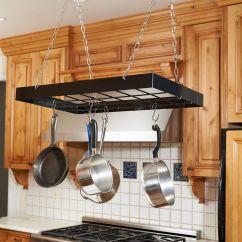 Kitchen Pot Rack Mission Style Cabinets Fox Run Rectangle 25 X 15 Black Walmart Canada