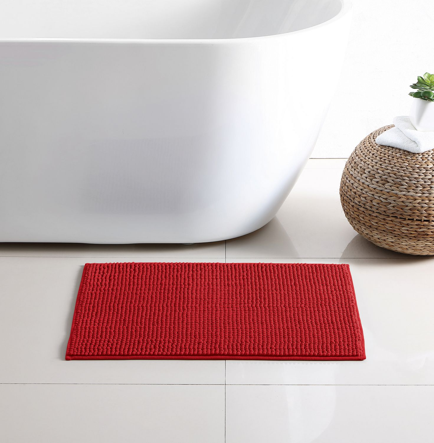 Red Bathroom Rug Red Label Noodle Bath Rug
