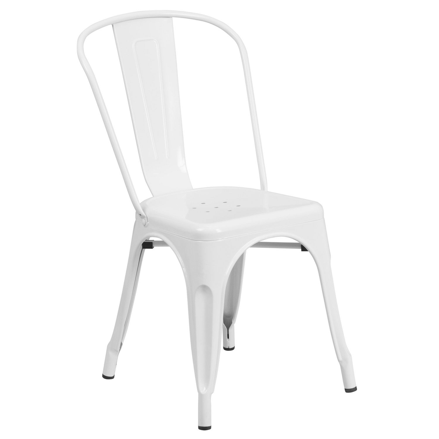 White Stackable Chairs White Metal Indoor Outdoor Stackable Chair