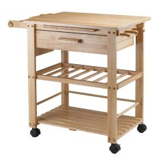 Cart For Kitchen Countertop Material Winsome Finland In Natural Finish 83644 Walmart Canada