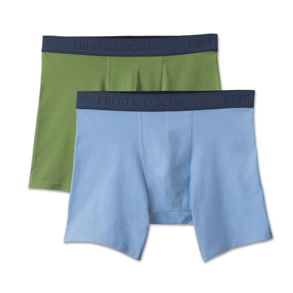 Fruit Of Loom Men' 2 Pack Rise Solid Color Boxer Canada