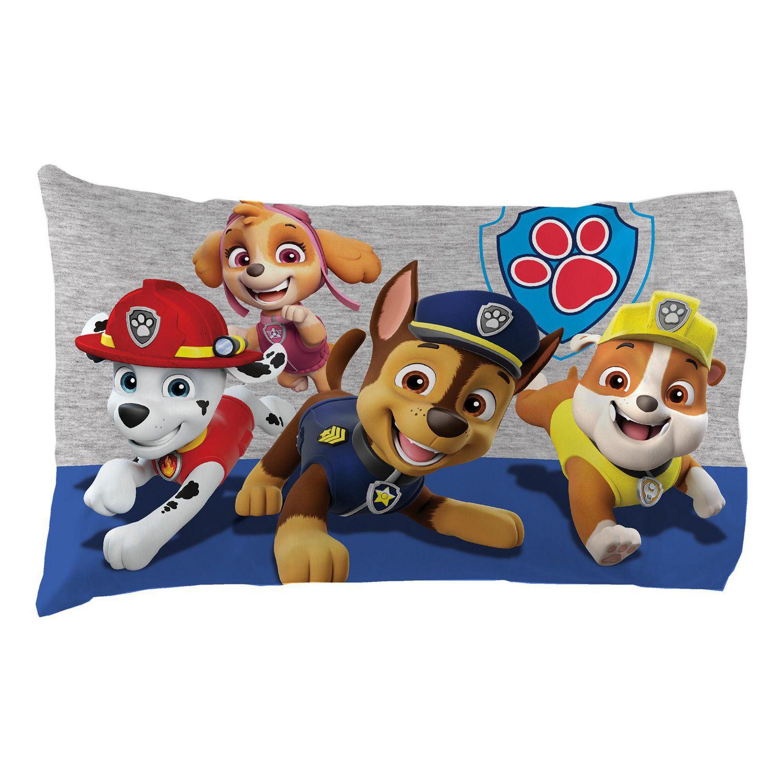 paw patrol varsity letter pillow case