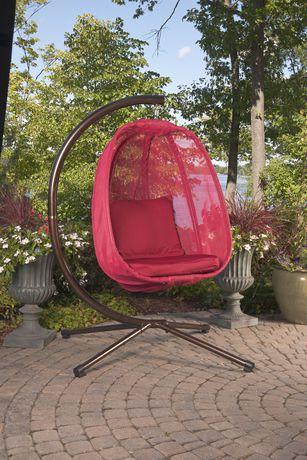 Flowerhouse Mesh Pattern Red Hanging Egg Chair  FHEC100