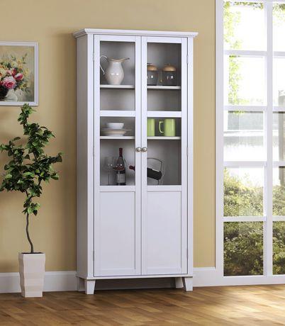 armoire de rangement a 2 portes blanche image 2 de 2