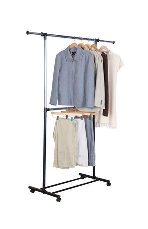 mainstays 2 tier adjustable garment rack
