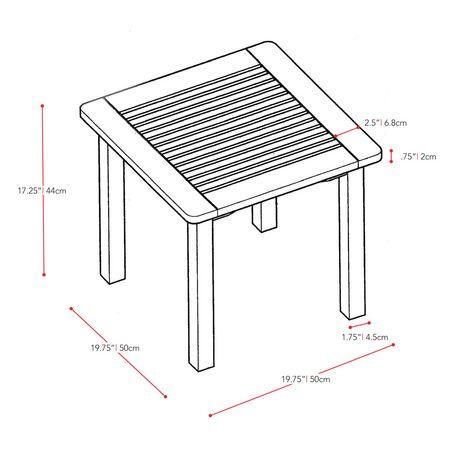 chaises et table d appoint de hauteur bar miramar de corliving d exterieur en bois dur en brun cannelle