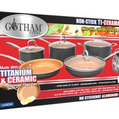 Kitchen Set Cream Colored Appliances Gotham Steel 10-piece Nonstick Frying Pan And ...