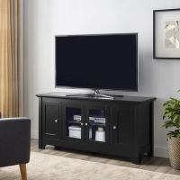 "WE Furniture 52"" Black Wood TV Stand Console | Walmart.ca"