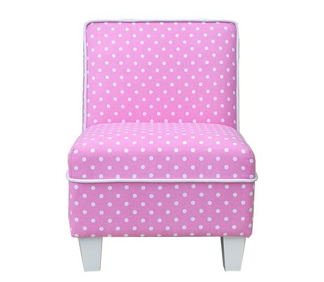 bedroom chair walmart canada personalized rocking for baby mainstays kids pink fabric