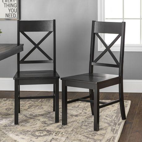 manor park chaise de salle a manger en bois noir antique plusieurs couleurs possible