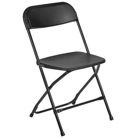 chaise pliante de la collection hercules de flash furniture haut de gamme en plastique noir