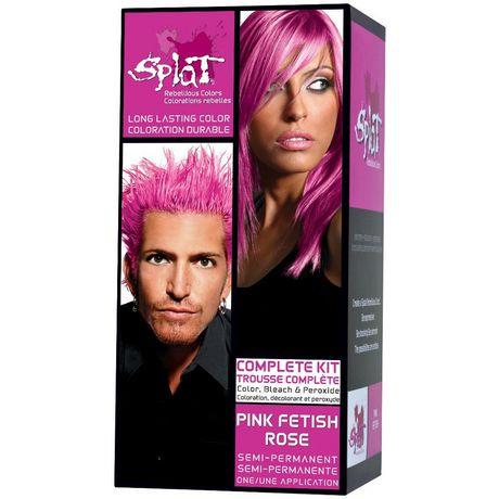 splat pink fetish colour & bleach
