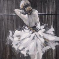 hometrends Ballerina Painted Canvas Wall Art   Walmart Canada