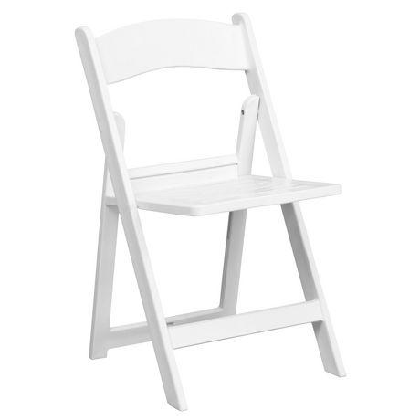 chaise pliante de la collection hercules de flash furniture en resine blanche
