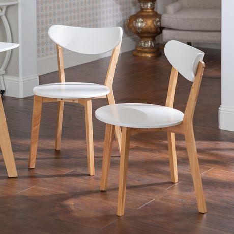 wood kitchen chairs non slip shoes walker edison retro modern dining walmart canada