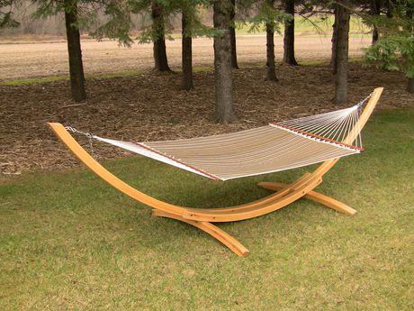 support pour hamac arc de vivere bois de cypres 15 pieds