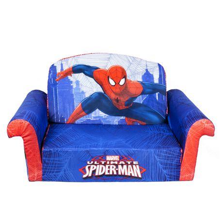 disney cars sofa canada replacement outdoor cushions marshmallow furniture flip open spiderman walmart