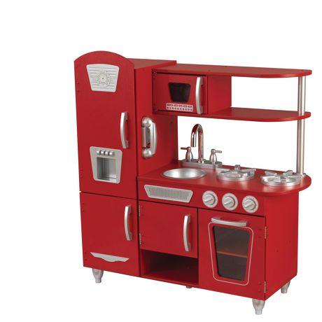 kid craft kitchen western table kidkraft red vintage walmart canada