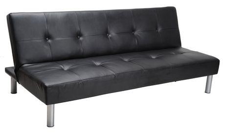 MAINSTAYS Faux Leather Sofa Bed  Black  Walmart Canada
