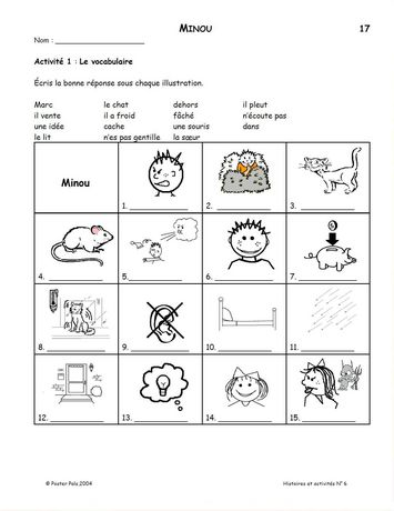 Poster Pals French (Fsl) Stories & Activities No. 6