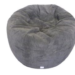 Corduroy Bean Bag Chair Stool Design Boscoman Jumbo Chocolate Round Beanbag | Walmart Canada