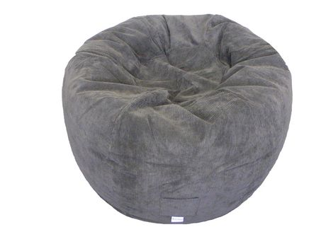 bean bag chairs canada rattan garden chair covers boscoman jumbo chocolate corduroy round beanbag walmart