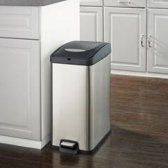 Trash Can Kitchen Macys Aid Mixer Hometrends 30 L Slim Rectangular Walmart Canada