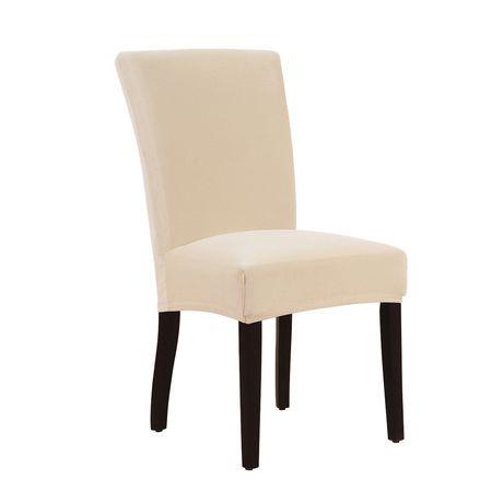 dining room chair covers walmart.ca computer no wheels housse extensible velours chaise de salle à manger  