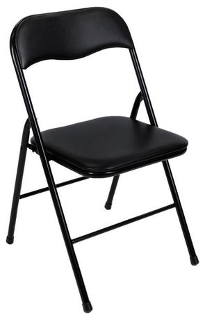 walmart fold out chair parson covers canada cosco vinyl folding black