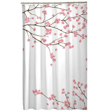 mainstays cherry blossom fabric shower curtain