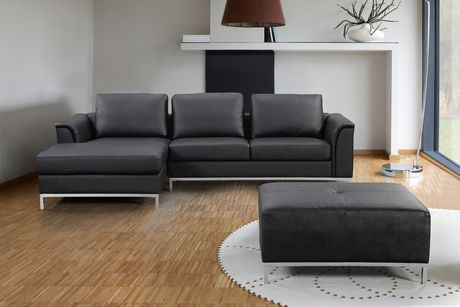 cheap black leather sectional sofas dfs lime green fabric sofa velago ollon walmart canada