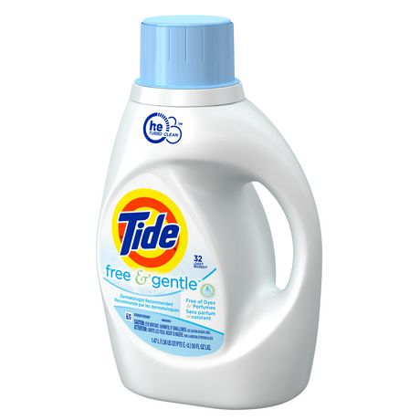 Tide HE Turbo Clean Free and Gentle Liquid Laundry
