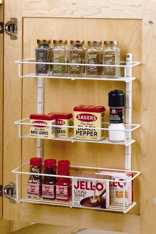 closetmaid 3 shelf adjustable spice rack