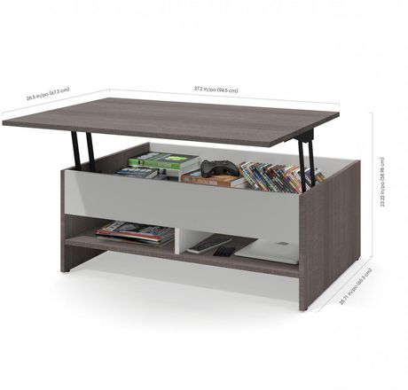 Bestar Small Space 37 LiftTop Storage Coffee Table