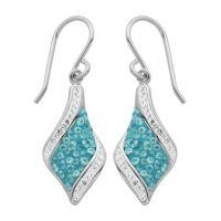 PAJ Iceberg Collection Crystal Drop Earrings - Baby Blue ...