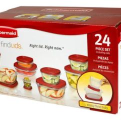 Rubbermaid Kitchen Storage Containers Remodeling Silver Spring Md Easy Find Lids 24 Piece Set Walmart Canada