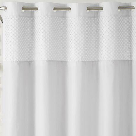 hookless brand 3 in 1 bahamas shower curtain white