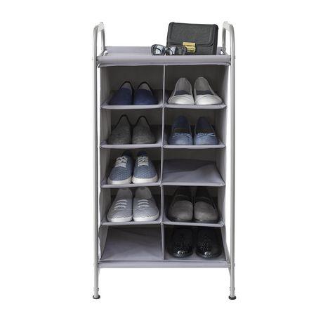 neatfreak tour de rangement versa avec range chaussures a 16 compartiments et panier tiroir