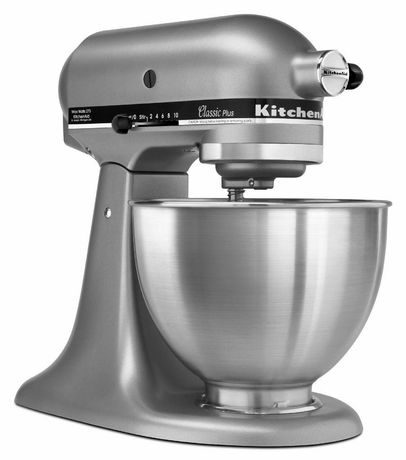 white kitchen aid laminate cabinets kitchenaid 275w ksm75sl classic plus stand mixer walmart canada