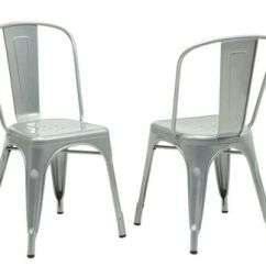 Silver Metal Dining Chairs Baby Shower Wicker Chair Rental Monarch Specialties Walmart Canada