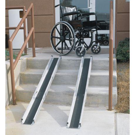 portable wheel chair ramp caper stacking dmi telescoping retractable wheelchair ramps | walmart canada