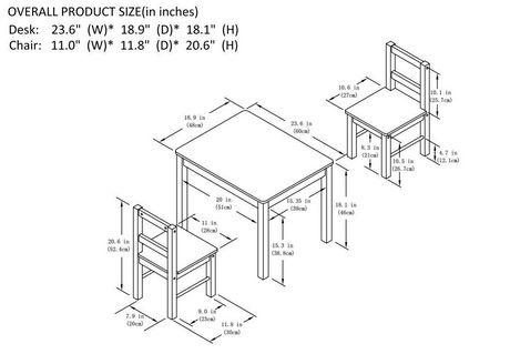 Ensemble Pour Enfants 3 Pices Incluant Table Et Chaises
