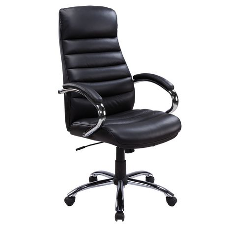 walmart leather office chair TygerClaw Executive High Back Bonded Leather Office Chair