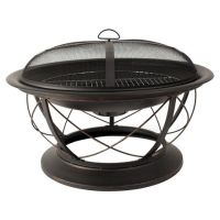 Pleasant Hearth OFW717RC Palmetto Fire Pit with Cooking ...