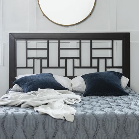 tete de lit carree en metal pour lit queen size