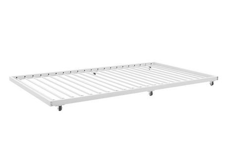 cadre de lit simple gigogne escamotable blanc