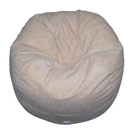 ll bean chairs woman sitting in chair boscoman faux suede round teen beanbag | walmart canada