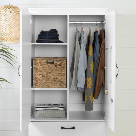 south shore farnel wardrobe armoire pure white