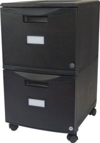 Double Drawer Mobile Filing cabinet, with lock and Casters ...