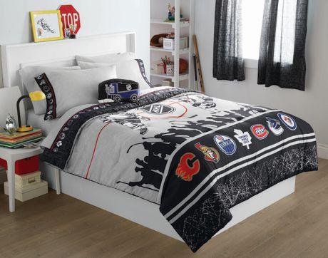 Licensed NHL Comforter Set TwinDouble Walmartca